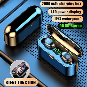 TWS Bluetooth Earphones 5.0 Wireless with Headphones Charge Box Sports Headset EarBuds with Dual Microphone for IPhone /Android FREE SHIPPING