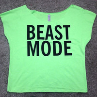 Beastmode - Crop Top - Womens Workout Shirt - Gym Shirt - Fitness Clothing - Motivational Shirt