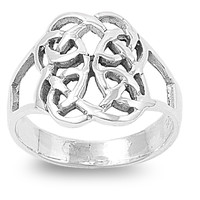 925 Sterling Silver Journey to the Infinite Wicca Ring