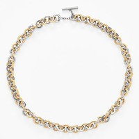 Women's Tory Burch Sculpted Two-Tone Link Collar Necklace