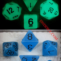 Glow in the Dark Dice Set for Dungeons & Dragons, dnd, rpg games