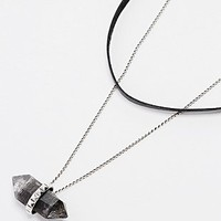 Jill Urwin Rutilated Quartz Pendant Necklace and Choker in Silver - Urban Outfitters