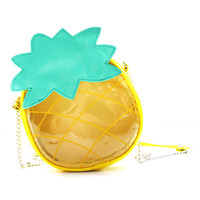 ROMWE Pineapple Shaped Color Block Bag