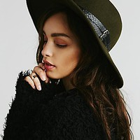 Womens Embellished Matador Hat