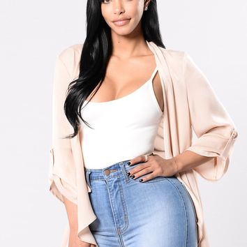 Sweetest Escape Jacket - Nude Pink