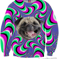 Crazy Pug Sweatshirt *Ready to Ship*