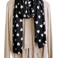 Love Is More Than a Fuzzy Feeling Scarf, Black - BACK IN STOCK