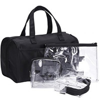 LOUISE MAELYS Luxury Cosmetic Bag Toiletry Organizer Storage Tote Bag for Travel