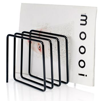 Block Magazine Rack, Black