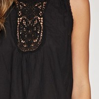 Lace Front Voile Tank