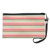 Colorfull Chevron Wristlet