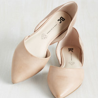 BC Footwear Miss Fancy Prance Flat in Rose Gold and Beige | Mod Retro Vintage Flats | ModCloth.com