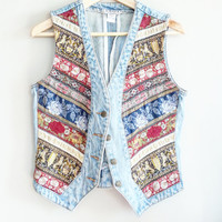 Boho Vest ~ Vintage Denim Vest~ Bohemian Clothing~ Boho Accessories~ Unicorn Clothing Vintage~ Festival~ Small Vest~ Vintage Clothing  Women