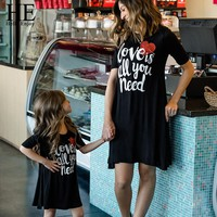 """Mommy + Me """"All you Need is Love"""" Dress"""