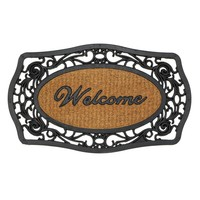 Frill Framed Welcome Welcome Door Mat