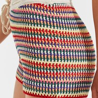 UO Rainbow Tie-Front Crochet Short | Urban Outfitters