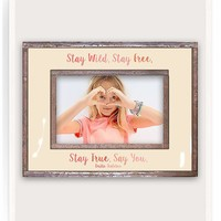 Stay Wild, Stay Free, Stay True, Stay You Copper & Glass Photo Frame
