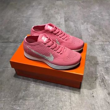 """""""Nike Flyknit Racer 1"""" Women Sport Casual Breathable Comfortable Running Shoes Sneakers"""