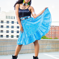 Blue Bandana Country Skirt