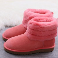 DHL Women's UGG snow boots warm cotton shoes Fluff Mini Quilted _1686248855-124
