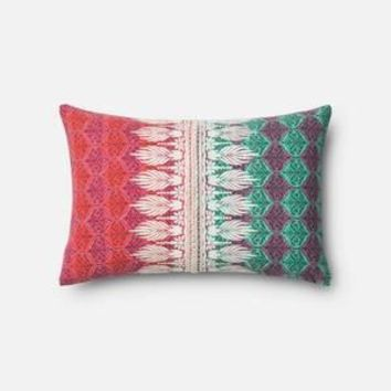 Pink and Green Pillow 13 X 21