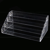 4 Tier Acrylic Makeup Nail Polish Storage Organizer Clear Storage Rack Display Stand