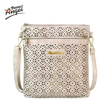 2017 Small Casual Women Messenger Bags PU Hollow Out Crossbody Bags Ladies Shoulder Purse And Handbags Bolsas Feminina