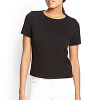 FOREVER 21 Textured Houndstooth Top