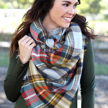 The Harvest Plaid Scarf - Brown