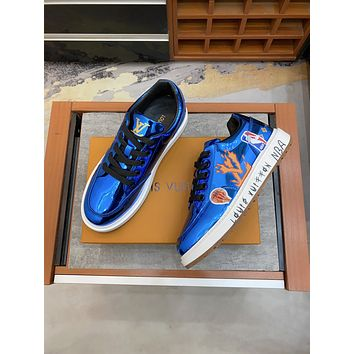 Louis Vuitton LV men's Casual Running Sport Shoes Sneakers Leather Shoes 070815
