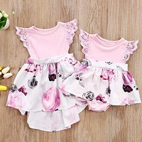 Girls Floral Dress Sundress and Newborn Baby Dress Romper Clothes 0-6Y (not a set)