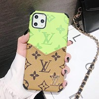 Louis Vuitton LV Apple 11 mobile phone case x old flower card xr all-inclusive 7p/8p anti-drop iPhone7 personality 11Pro-1
