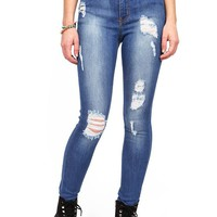 Industry Ripped High Waist Skinny Jeans