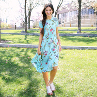 Rhea Floral Dress - Mint   Called To Surf