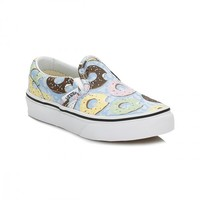 Vans Kids Skyway/Donuts Classic Slip On Canvas Trainers