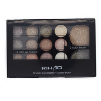 14 Colors Eye Shadow Diamond Glitter Palette Makeup with Brush and Mirror