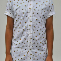 The Bees Knees Short Sleeve Button-Up Shirt