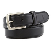 Polo Ralph Lauren Edge-Stitched Leather Belt - Black