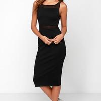 Black Swan Abbey Black Midi Dress