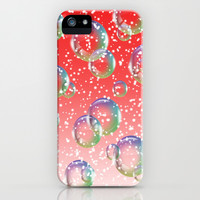 Christmas Bubbles iPhone & iPod Case by Alice Gosling