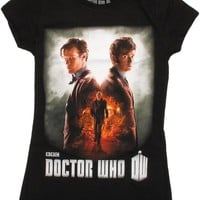 Doctor Who Day of the Doctor Poster Baby Doll Tee