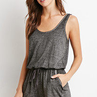 Heathered Drawstring Romper