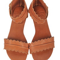 MIDSUMMER. Leather sandals  / women shoes /  leather shoes / flat shoes / tan leather. sizes 35-43. Available in different leather colors.