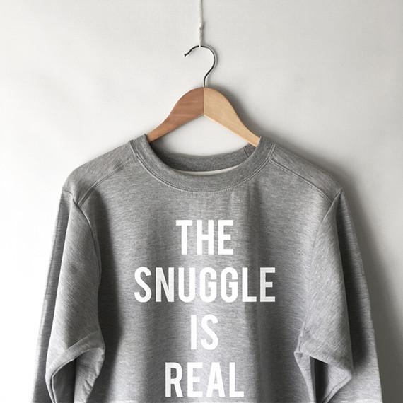 Image of The Snuggle is Real Sweatshirt in Grey