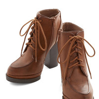 ModCloth Menswear Inspired Bliss I Promise You Bootie