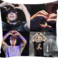 Justin Bieber Hearts Pillow 💞