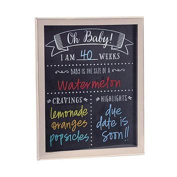 Oh Baby Pregnancy Chalkboard Signs