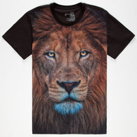Blue Crown King Of The Jungle Mens T-Shirt Black  In Sizes