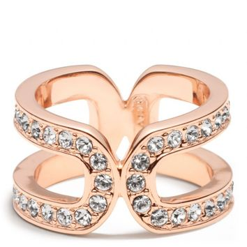 Coach :: New Double Link Wrap Ring