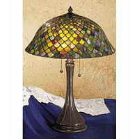 """23""""H Fish Scale  Table Lamp"""
